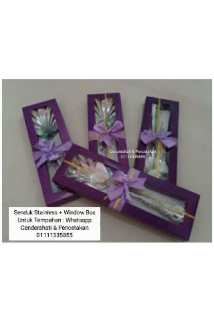 Doorgift Senduk Stailess + Box Window